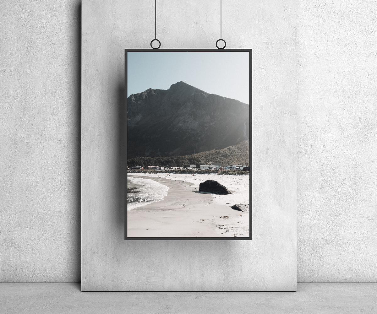 Hanging Frame Poster Mockup